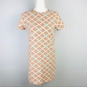 Zara Trafaluc Geometric Print Dress